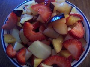 lots of fresh fruit...