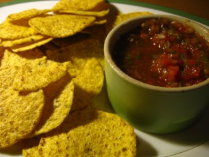 fresh organic salsa