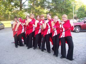 my colorguard team